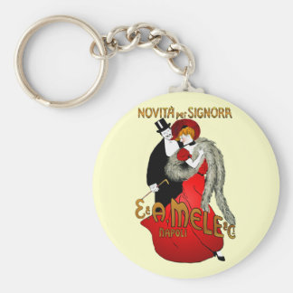 Lady in Red Light Keychain