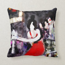 """"""" Lady in Red """" Med Throw Pillow"""