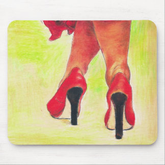 Lady in Red Mouse Pad