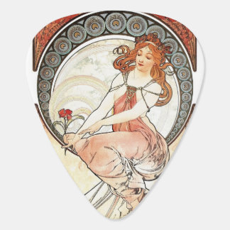 Lady in Red Mucha guitar pick