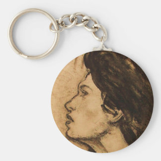 Lady in Sepia Key Chain