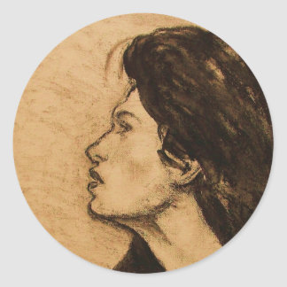 Lady in Sepia Stickers