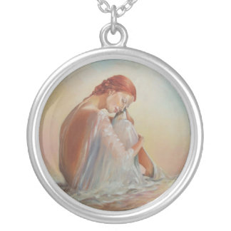 Lady in Silk Necklace