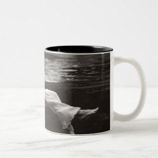 Lady in the Coffee Two-Tone Coffee Mug