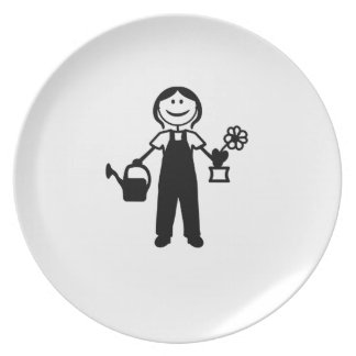 Lady in the Garden Party Plate
