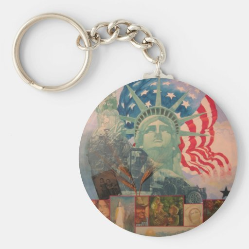 Lady in the Harbor. Key Chain