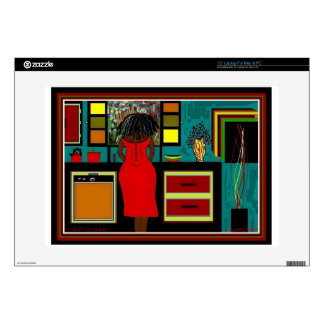 """LADY IN THE KITCHEN 15"""" Laptop For Mac & PC Skins For 15"""" Laptops"""