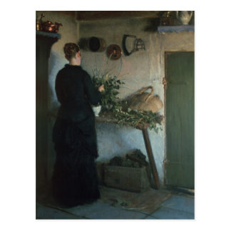 Lady in the Kitchen Postcard