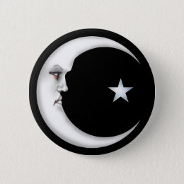 Lady in the Moon Button