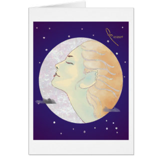 lady in the moon card