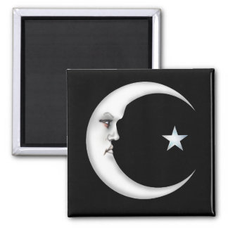Lady in the Moon Magnets