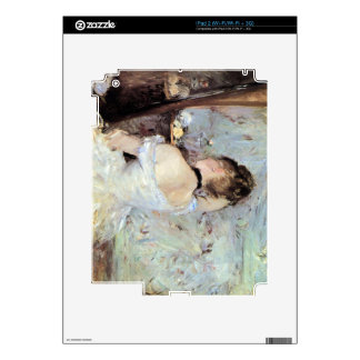 Lady in the Toilet by Berthe Morisot Decals For The iPad 2