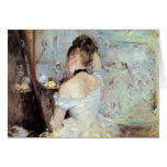 Lady in the Toilet by Berthe Morisot Greeting Card