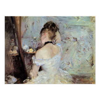 Lady in the Toilet by Berthe Morisot Print