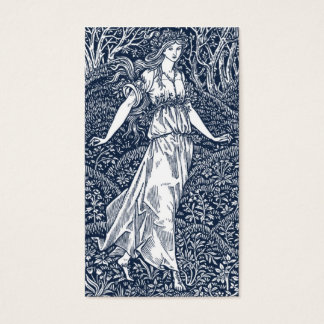 lady in the Woods Business Card