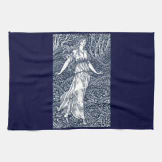 lady in the Woods Hand Towel