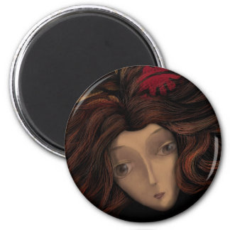 Lady in Wait 2 Inch Round Magnet