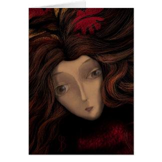 Lady in Wait Card