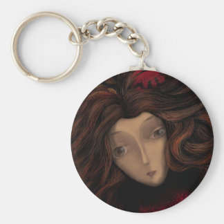 Lady in Wait Basic Round Button Keychain