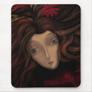 Lady in Wait Mouse Pad