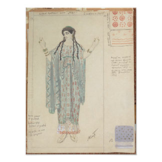 Lady-in-waiting costume design for Hippolytus Poster