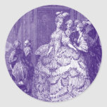 Lady in Waiting to Marie Antoinette Classic Round Sticker