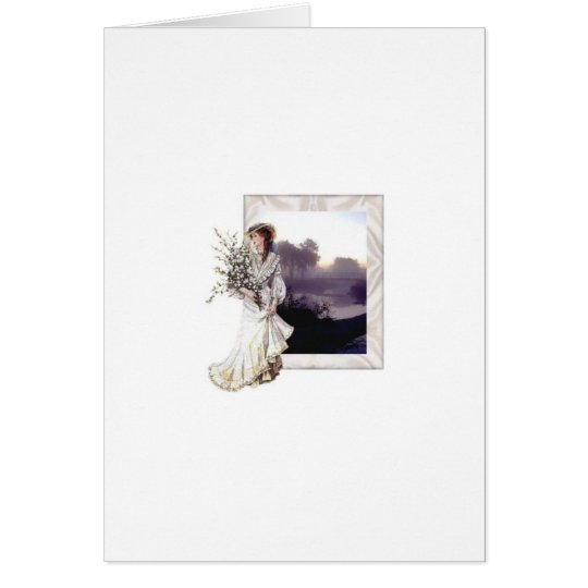 Lady in White Card