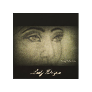 Lady Intrigue     Wood Canvas