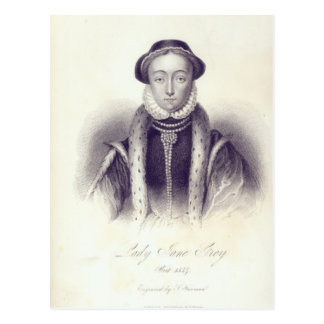 Lady Jane Grey, engraved by S. Freeman Postcard