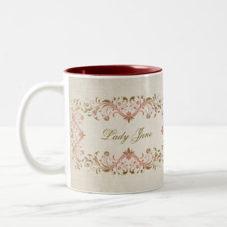 Lady Jane Mistress of the Manor House Cup Two-Tone Coffee Mug