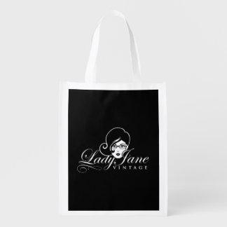 Lady Jane Vintage Reusable Shopping Tote Market Tote