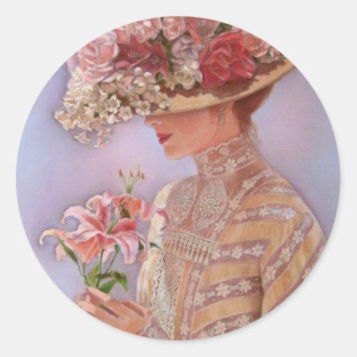 Lady Jessica Classic Round Sticker