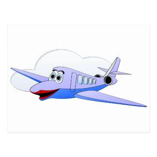 Lady Jet Cartoon Postcard