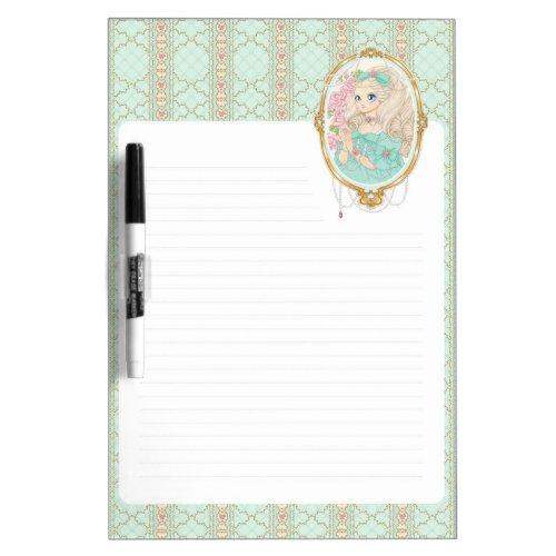 Lady Jewel dry erase board (mint)
