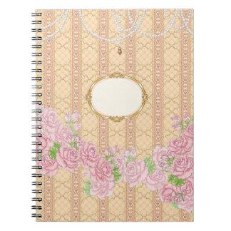 Lady Jewel (gold) Spiral Notebook