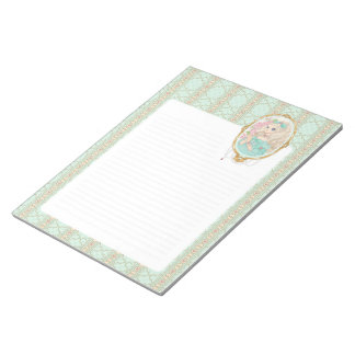 Lady Jewel notepad (mint)