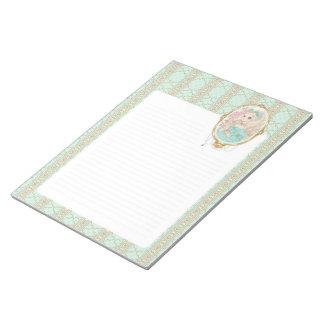 Lady Jewel notepad (mint)
