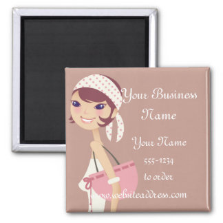 Lady Jewelry Shopping Customizable Items Magnet