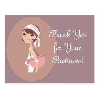 Lady Jewelry Shopping Customizable Items Postcard