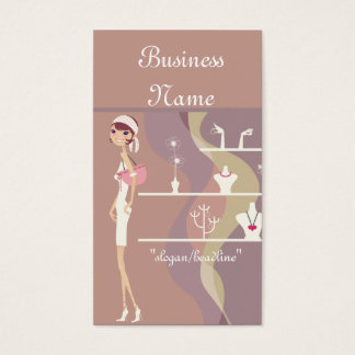 Lady Jewelry Shopping Design 2 Business Cards