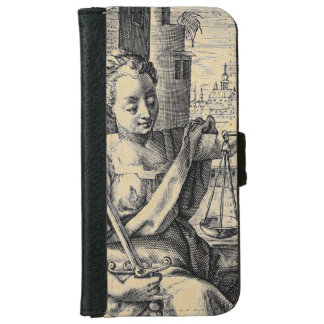 Lady Justice and Scales iPhone 6/6s Wallet Case