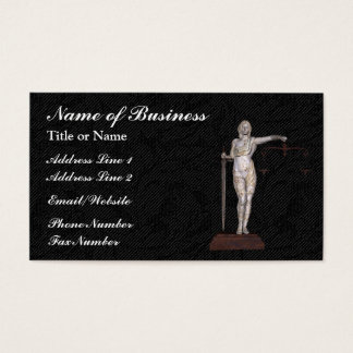 Lady Justice Business Card