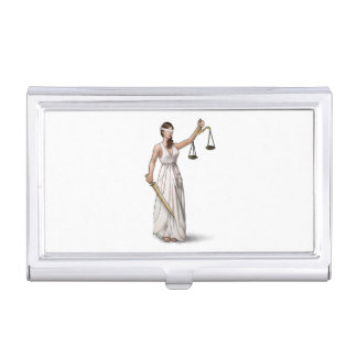 Lady Justice Business Card Holder