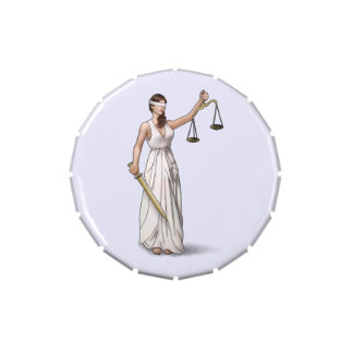 Lady Justice Candy Tins