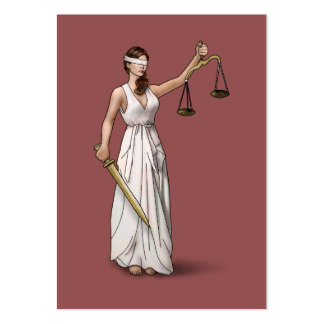 Lady Justice - Marsala Large Business Cards (Pack Of 100)
