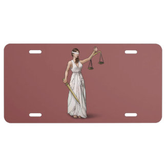 Lady Justice - Marsala License Plate