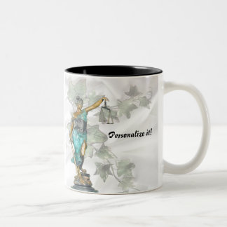 Lady Justice on Satin & Ivy-PERSONALIZE IT! Two-Tone Coffee Mug