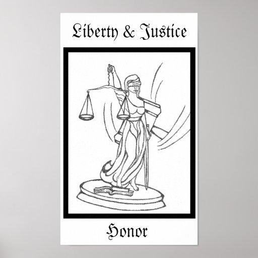 Lady Justice Original Artwork Screen Print
