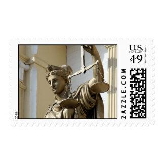 Lady Justice Statue, Virginia City, Nevada Postage