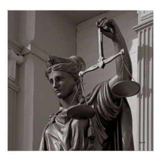 Lady Justice Statue, Virginia City, Nevada Poster